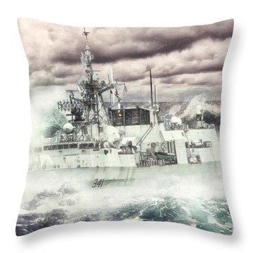 Hmcs Ottawa Throw Pillow