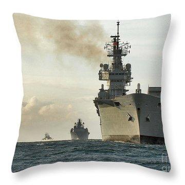Hms Ark Royal  Throw Pillow