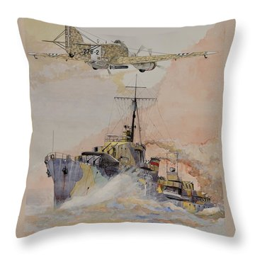 Hms Ashanti Throw Pillow