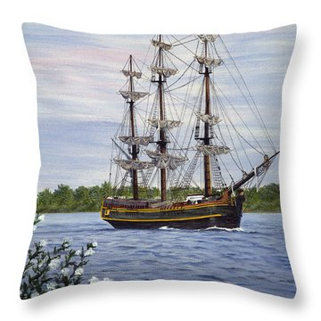 Hms Bounty Throw Pillow by Vicky Path