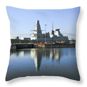 Hms Dauntless Throw Pillow