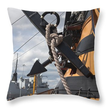 Hms Diamond And Hms Victory Throw Pillow