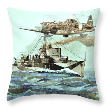 Hms Ledbury Throw Pillow