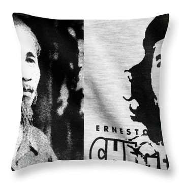 Ho Chi Minh And Che Guevara Throw Pillow