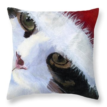Ho Ho Harley Throw Pillow by Lynne Reichhart