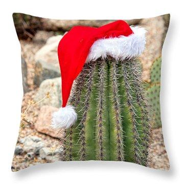 Throw Pillow featuring the photograph Ho Ho Ho Arizona Style by Dan McManus