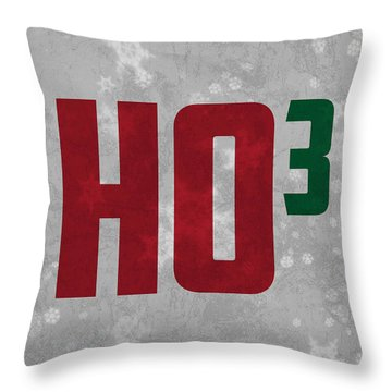 Ho Ho Ho Have A Very Nerdy Christmas Throw Pillow by Design Turnpike