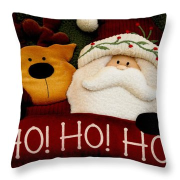 Throw Pillow featuring the photograph Ho Ho Ho by Ivete Basso Photography