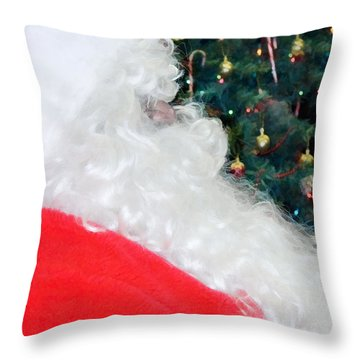 Throw Pillow featuring the photograph Santa Claus by Vizual Studio