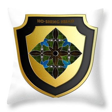 Ho-sheng-hsiao-family-crest Throw Pillow