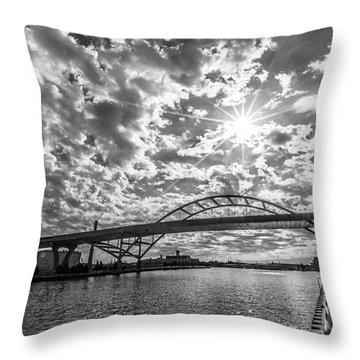 Hoan Bridge Peak Thru Throw Pillow