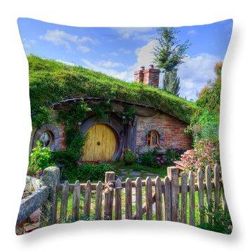 Hobbit Hole 7a Throw Pillow