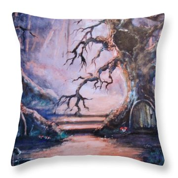 Hobbit Watering Hole Throw Pillow