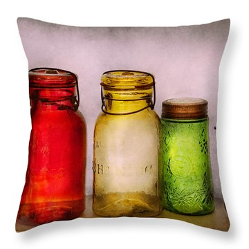 Hobby - Jars - I'm A Jar-aholic  Throw Pillow by Mike Savad