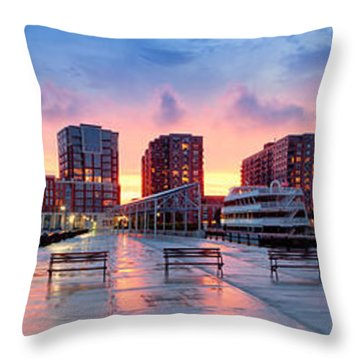 Hoboken New Jersey Throw Pillow