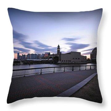 Hoboken Overlooking The Ferry Throw Pillow by Paul Ward