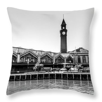 Hoboken Terminal Tower Throw Pillow
