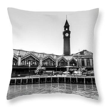 Hoboken Terminal Tower Throw Pillow