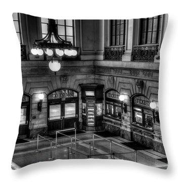 Hoboken Terminal Waiting Room Throw Pillow