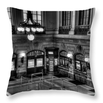Hoboken Terminal Waiting Room Throw Pillow