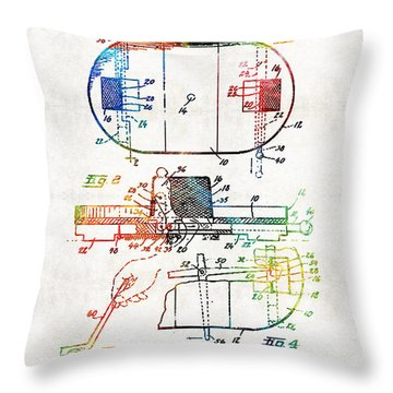 Hockey Art - Game Board - Sharon Cummings Throw Pillow