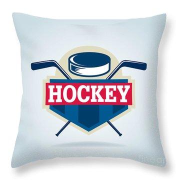 Hockey Sticks Throw Pillows