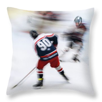Ice Skating Throw Pillows