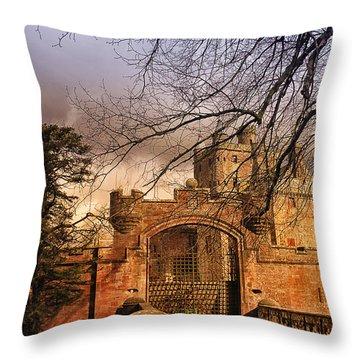 Hoddom Castle Throw Pillow