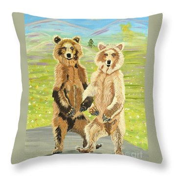 Hoedown On The Tundra Throw Pillow