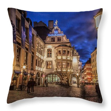 Hofbrauhaus Throw Pillow