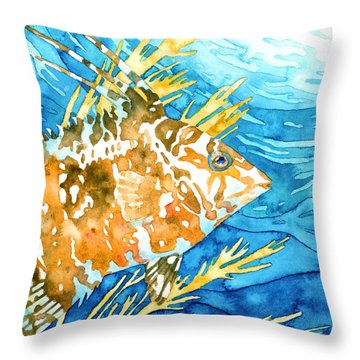 Hogfish Portrait Throw Pillow