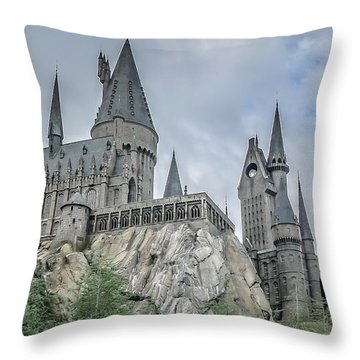Hogswarts Castle  Throw Pillow by Edward Fielding