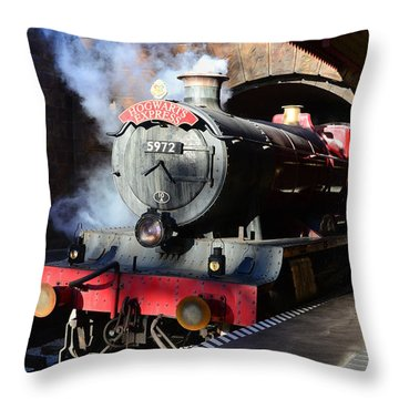 The Hogwarts Express Is Here Throw Pillow