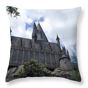 Hogwarts School Throw Pillow