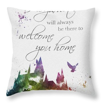 Hogwarts Will Welcome You Home Throw Pillow