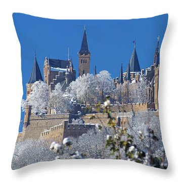 Hohenzollern Castle Germany Throw Pillow by Rudi Prott