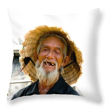 Hoi An Fisherman Throw Pillow