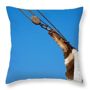 Hoist The Sails. Throw Pillow