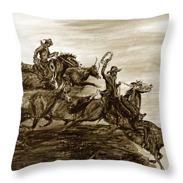 Hol-ly Cow Throw Pillow