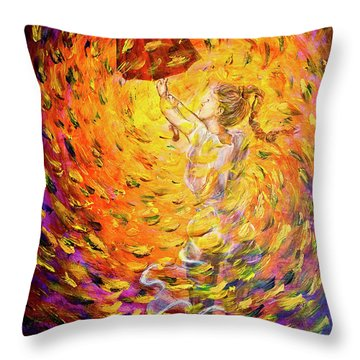 Hold Back The Rain II Throw Pillow