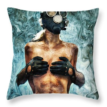 Hold Me If I M Dying 2 Throw Pillow by Stelios Kleanthous
