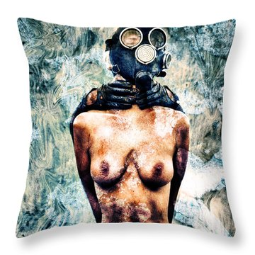 Hold Me If I M Dying 4 Throw Pillow by Stelios Kleanthous