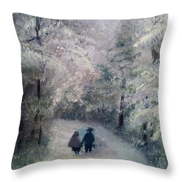 Hold My Hand Throw Pillow
