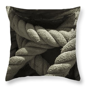 Hold On Black And White Sepia Throw Pillow