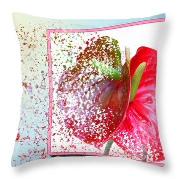 Hold On... It's Pretty Windy Today Throw Pillow