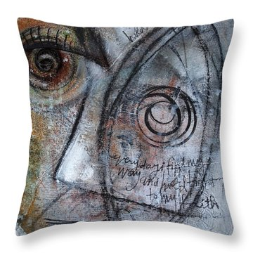Hold Tight To My Faith Throw Pillow