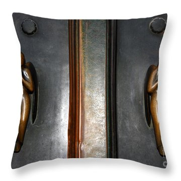 Holding Angels Throw Pillow
