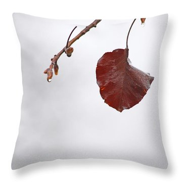 Holding On Throw Pillow by Karol Livote