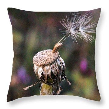 Holding On Throw Pillow by Lorri Crossno