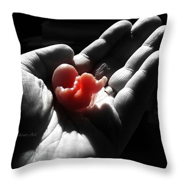 Holding On To Life Throw Pillow